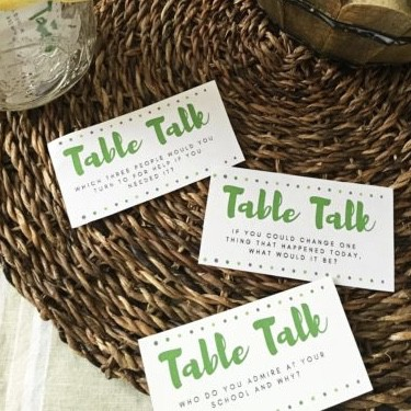 Family Dinner Conversation Starters | Taking Meal Time Back