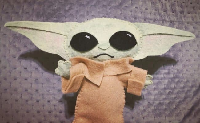 baby yoda felt doll on etsy