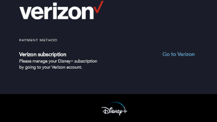 Verizon Disney Plus offer in disney plus account