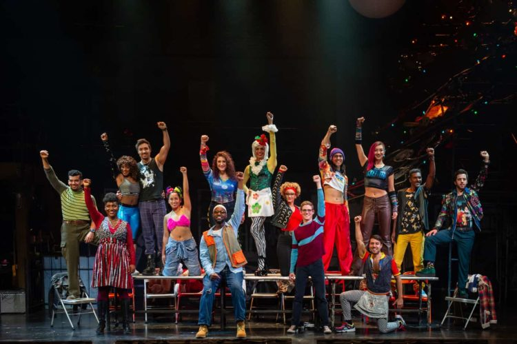 RENT touring cast at the National Theatre in Washington DC