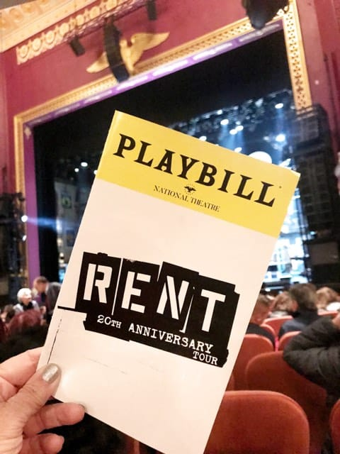 RENT at the National Theatre in DC