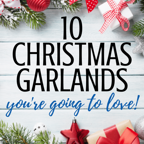 Holiday and Christmas Garland Ideas for your mantle