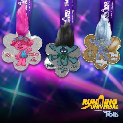 Running Universal Hollywood Trolls Medals Revealed!
