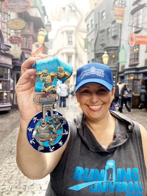 running universal orlando medal in diagon alley