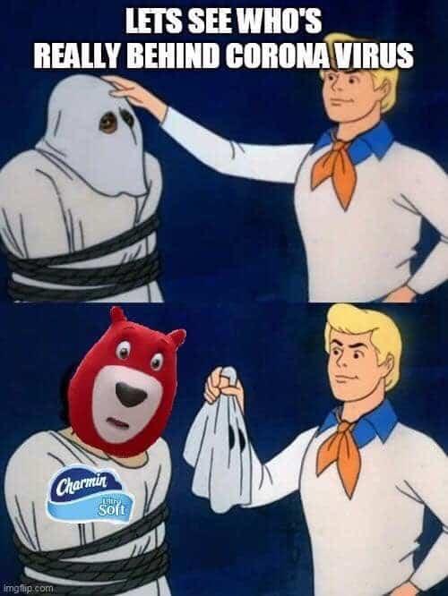 charmin toilet paper scooby doo coronavirus meme