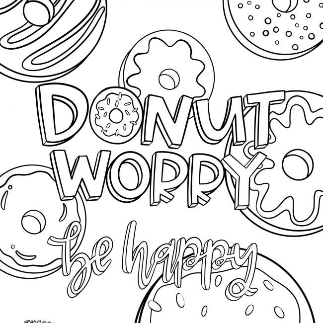 - Donut Worry! Printable Coloring Pages For Kids