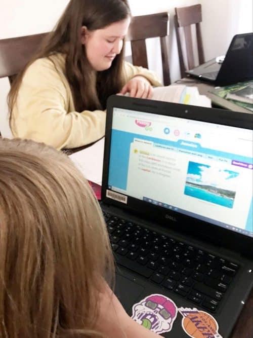 homeschooling thanks to coronavirus
