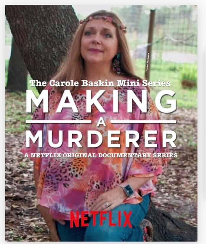 next up on Netflix: making of a murderer carole baskin tiger king memes