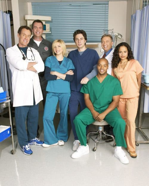 scrubs clip shows how infection like coronavirus spreads and shows how social distancing helps