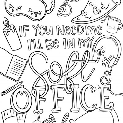 Work From Home Adult Coloring Page