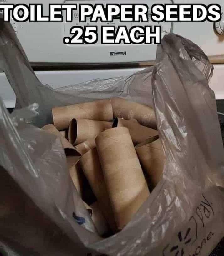 toilet paper memes seed starter set coronavirus memes
