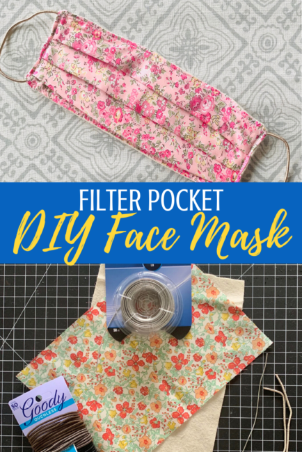 DIY Face Mask With Filter Pocket for Germ Protection
