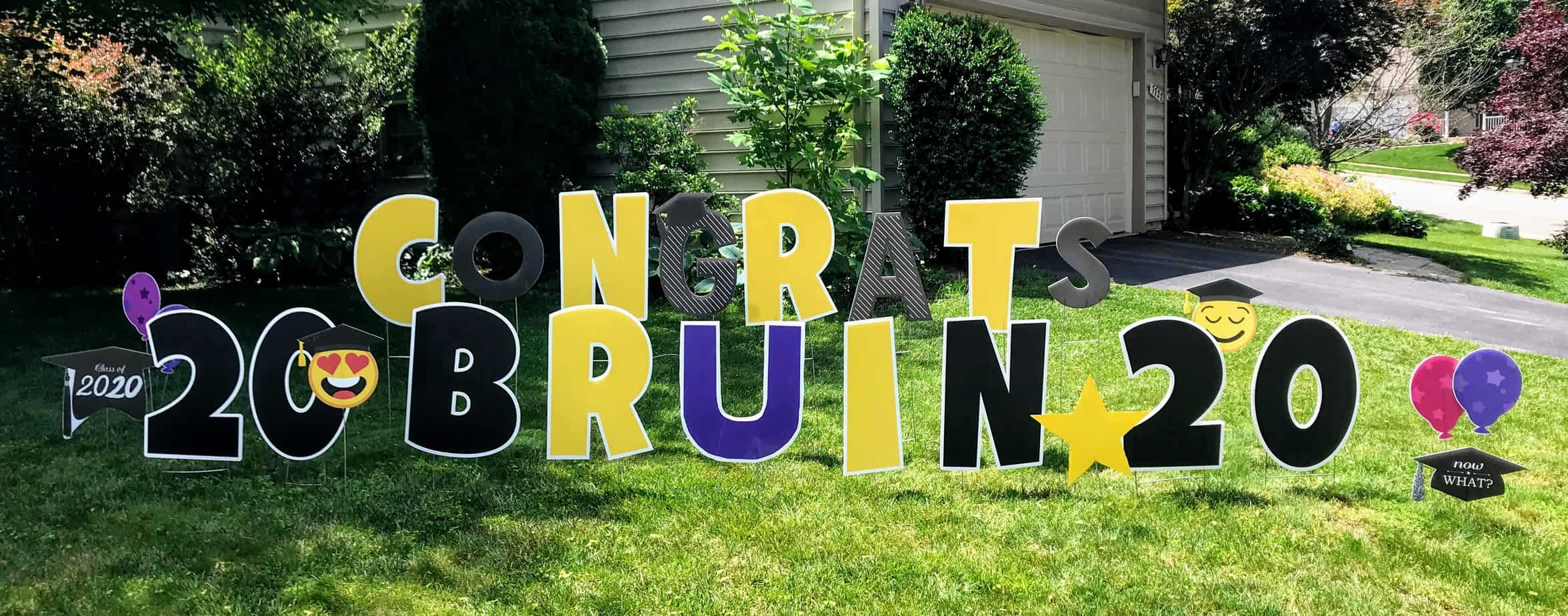 congratulations yard card burke va and springfield virginia