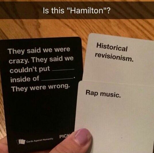 cards against hamilton meme