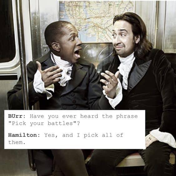 memes from hamilton and burr memeHamilton the musical: