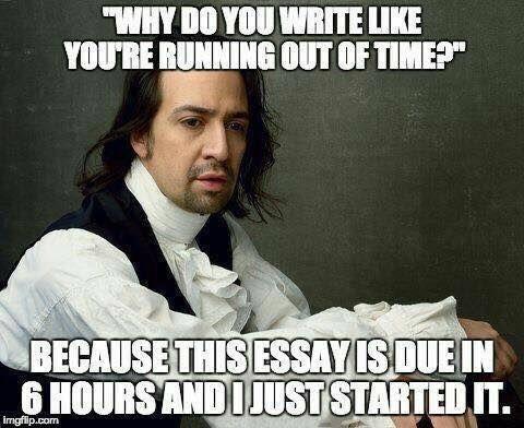 hamilton essay meme
