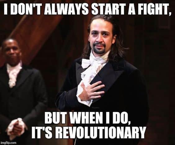 revolutionary hamilton the musical memes