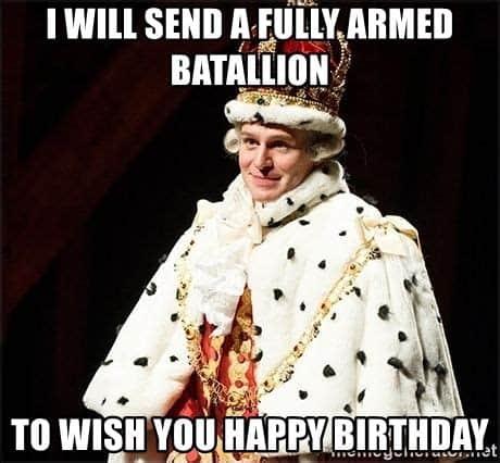 king george hamilton meme