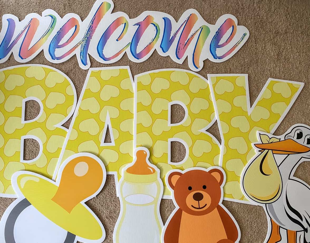 new baby yard card signs alexandria va