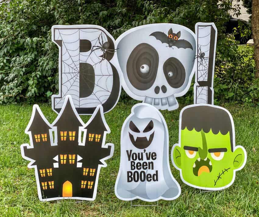 Halloween parade ideas new ideas for halloween BOO yard cards