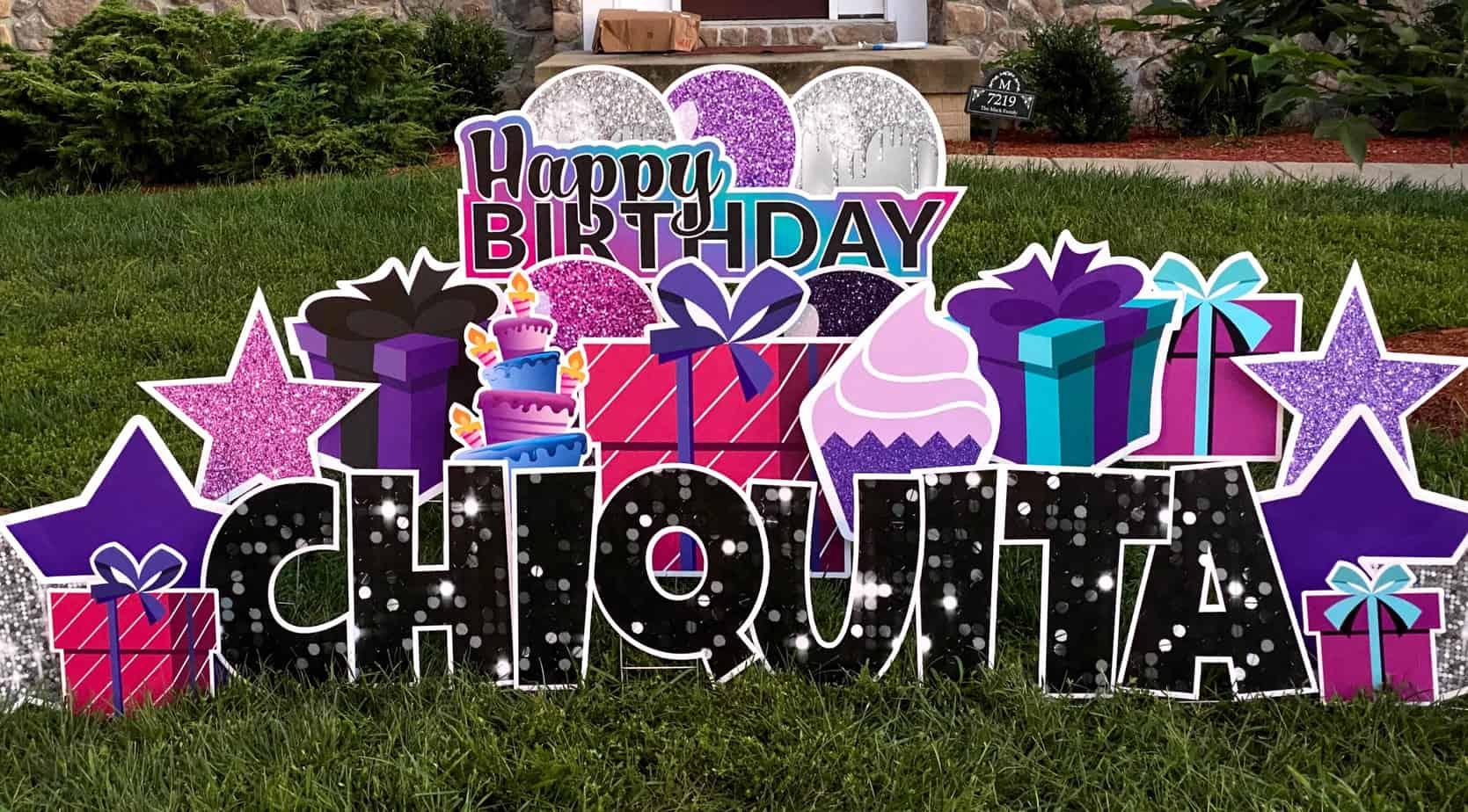 happy birthday yard greeting springfield VA