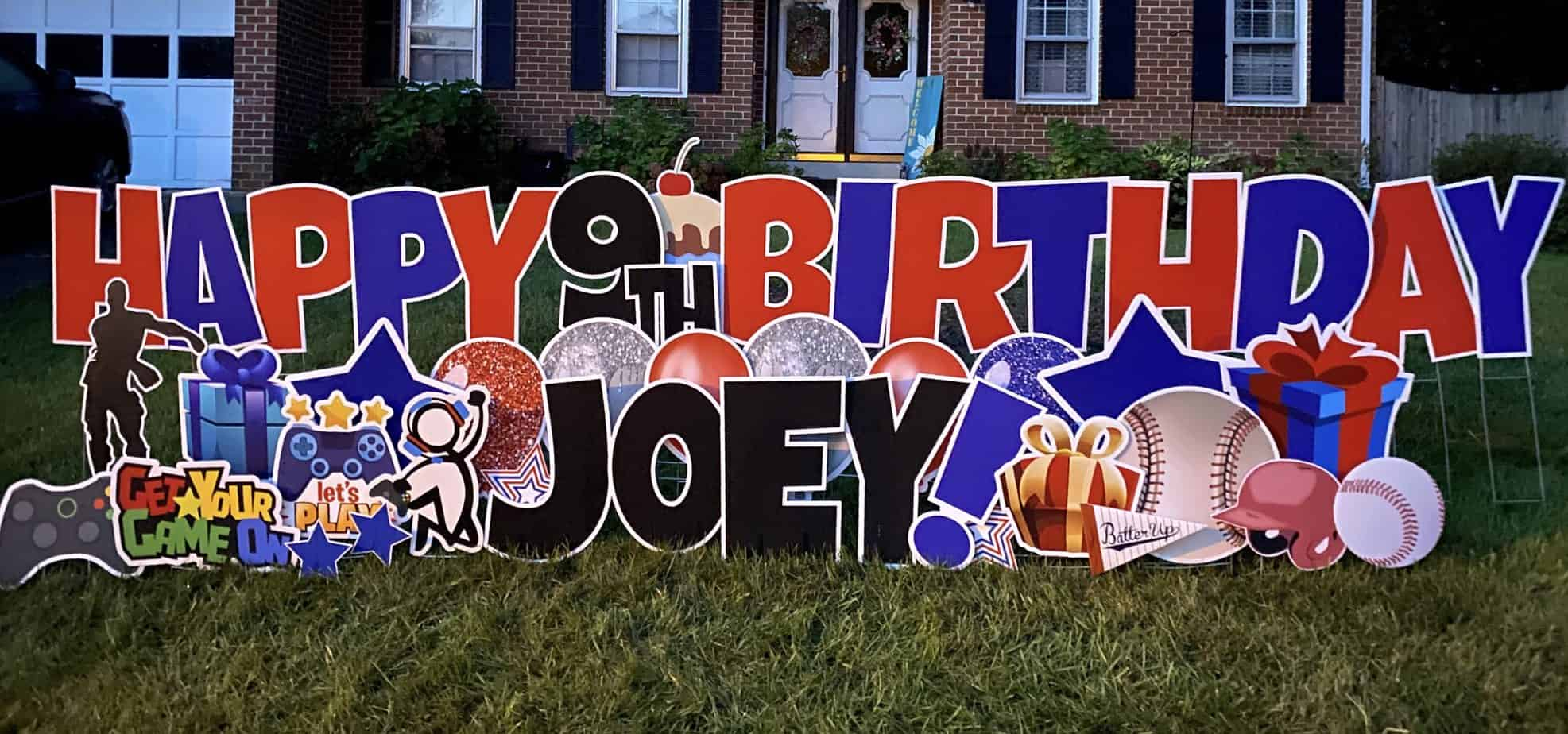 happy birthday yard card alexandria and springfield VA