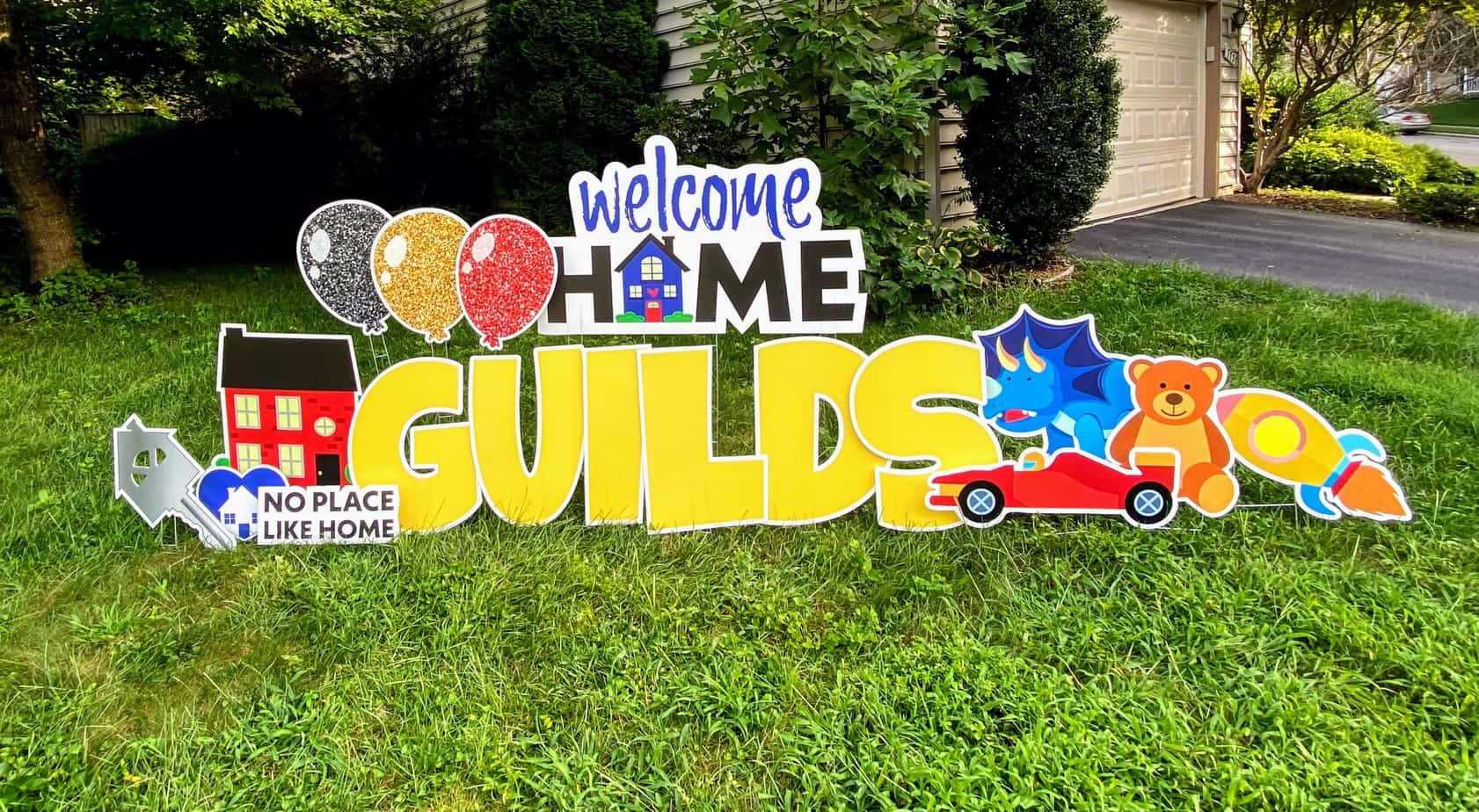 welcome home yard card springfield VA