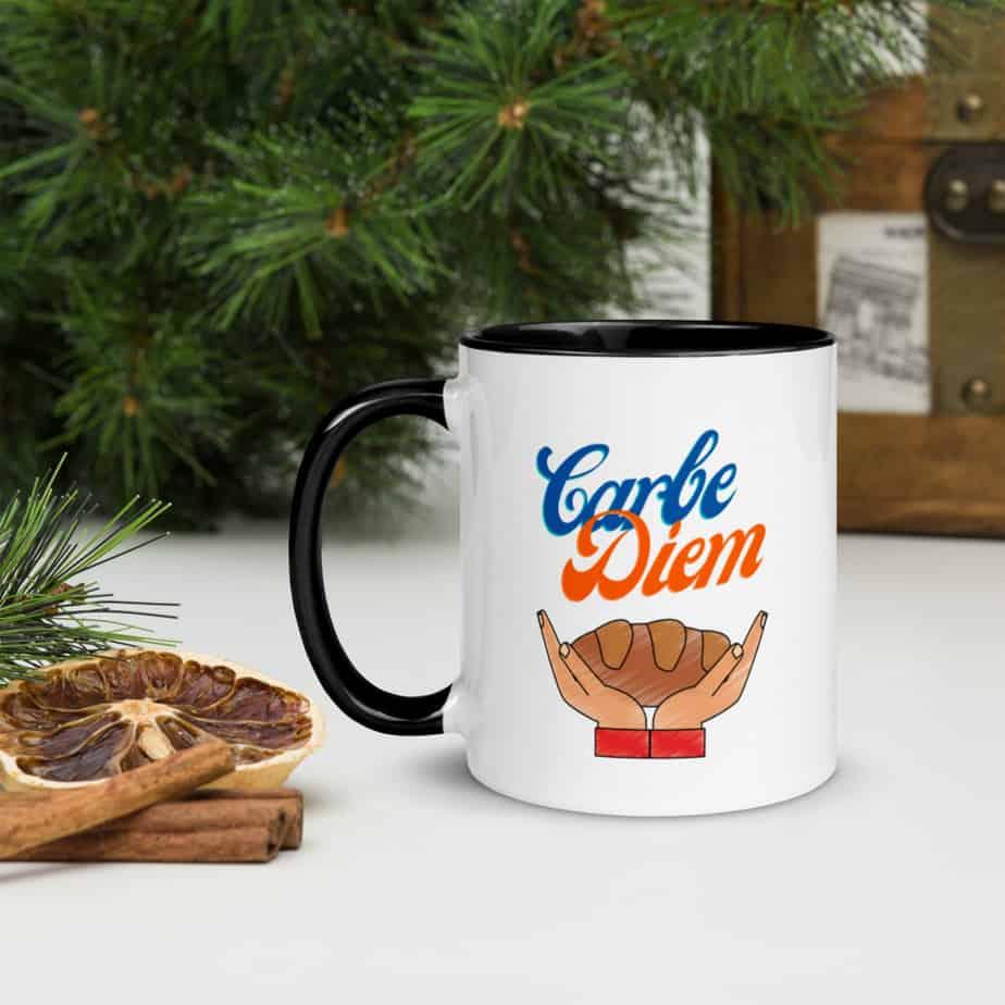 carbe diem mug for bread lovers