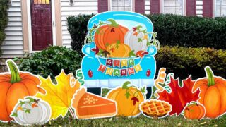 thanksgiving yard signs for rent springfield va noguiltyardcards