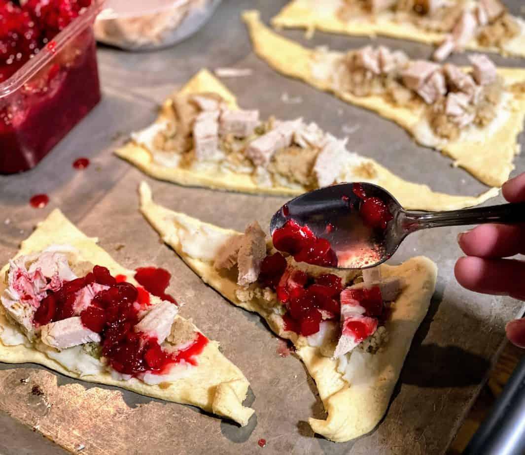 turkey leftover ideas cresent rolls thanksgiving