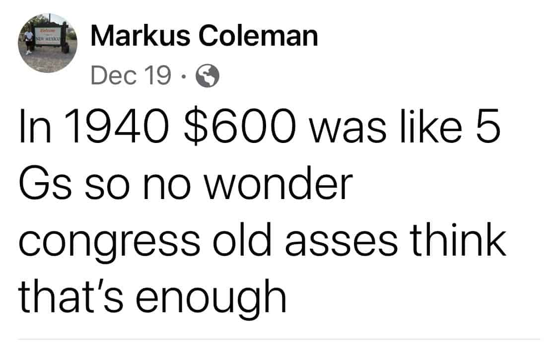 1940s $600 Stimulus Memes