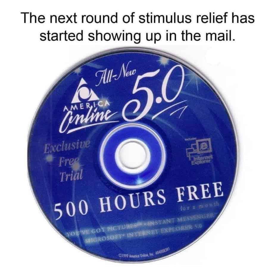 aol cd stimulus meme