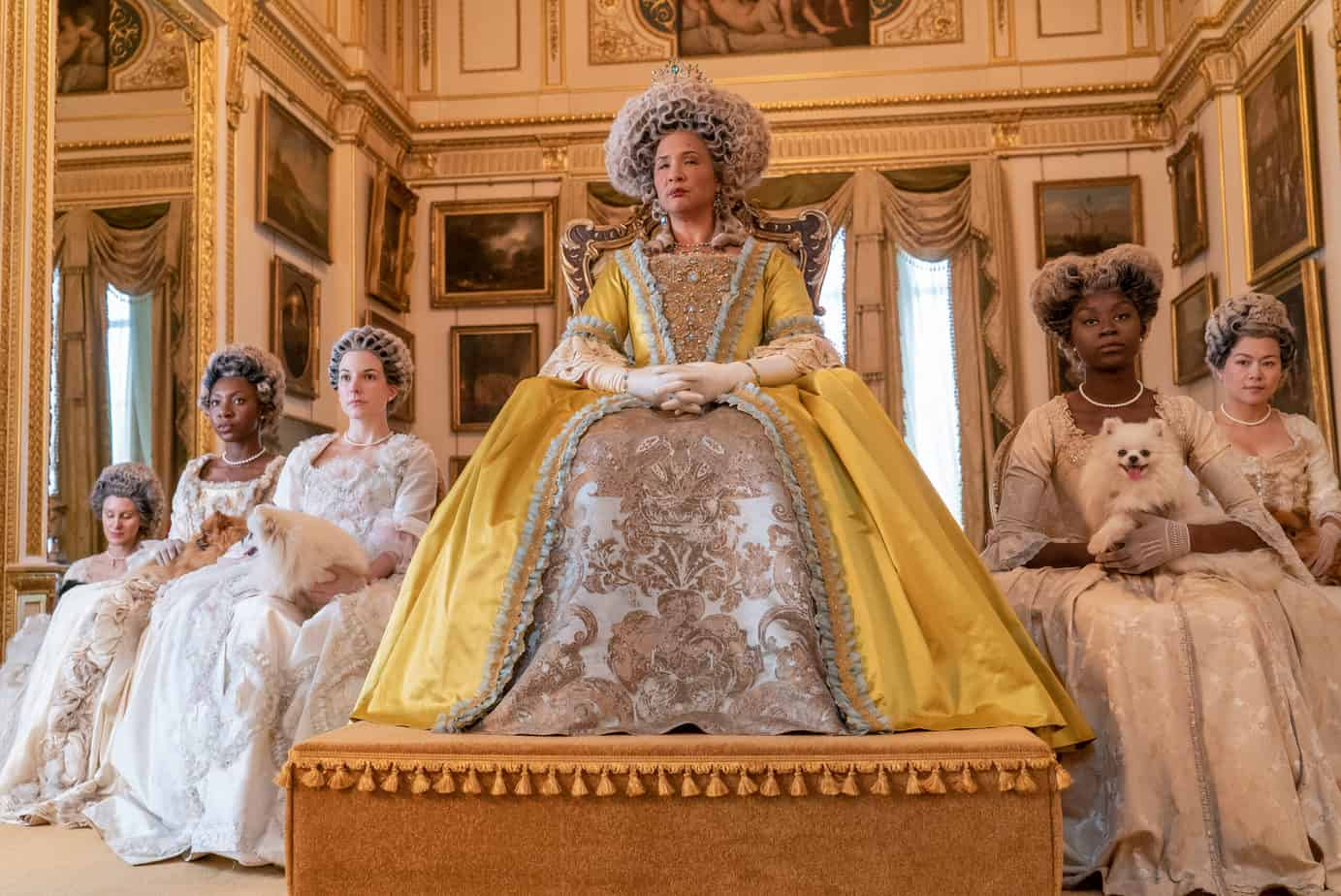 Bridgerton drinking game queen charlotte and ladies in waiting