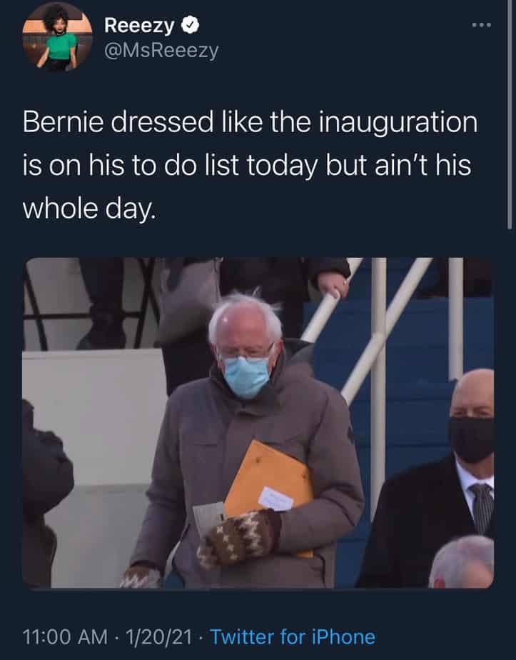 bernie inauguration day memes