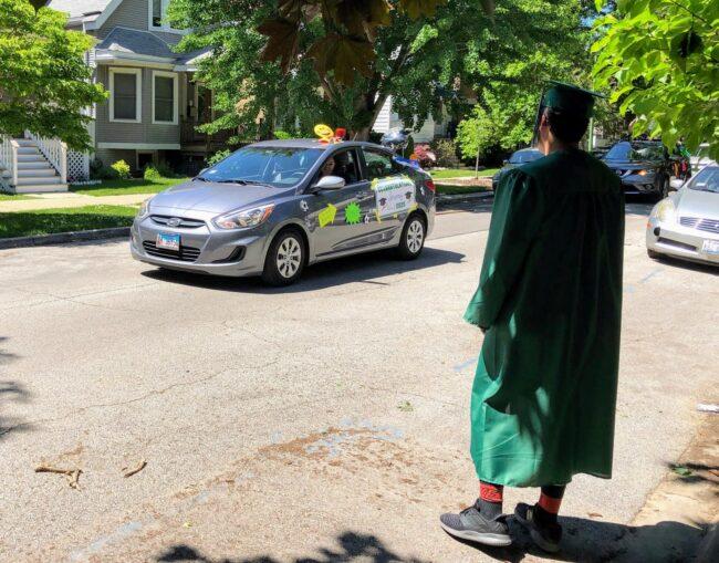 car graduation parade