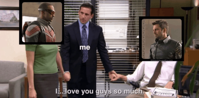 falcon and the winter soldier memes the office