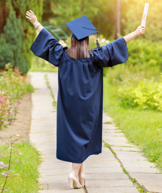 5 out of the box graduation party ideas graduate walking away
