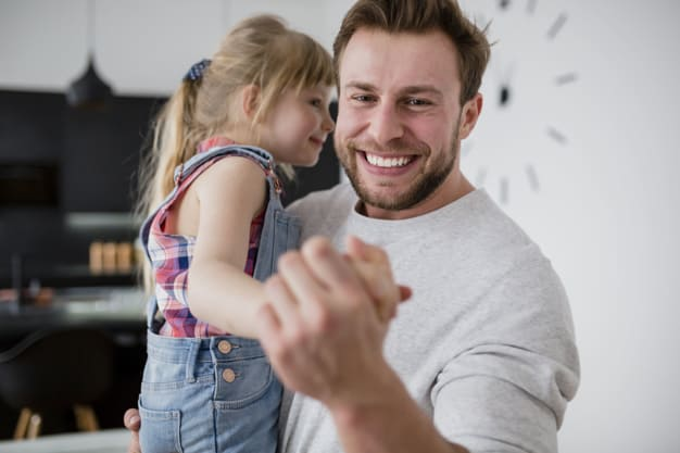 dad dancing with toddler activies