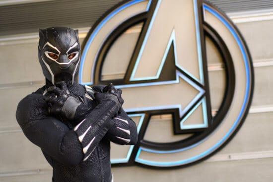 black panther at disneyland avengers campus
