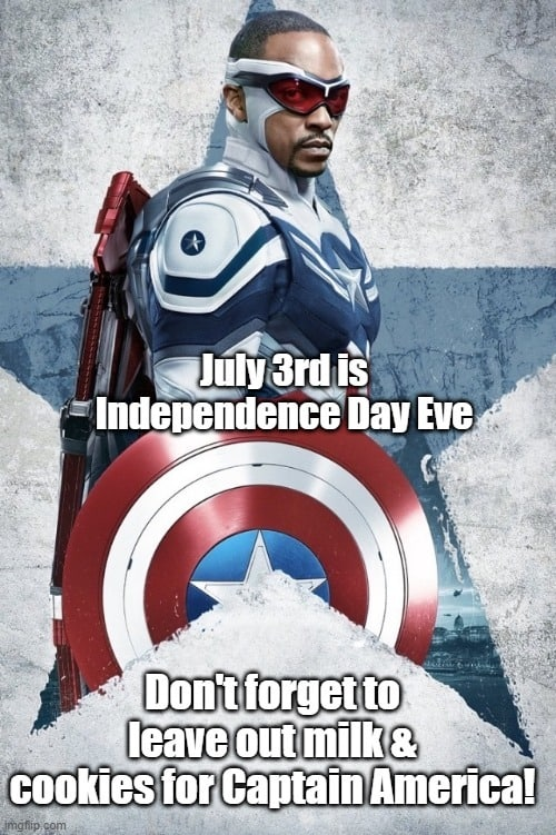 captain america 4th of july meme cookies and milk