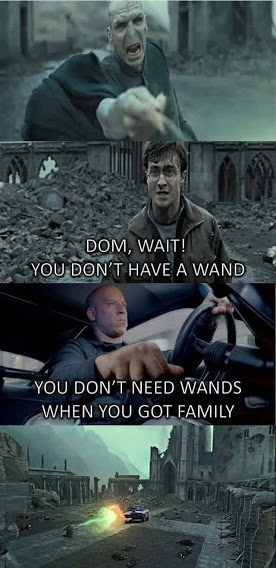 harry potter fast and furious family memes