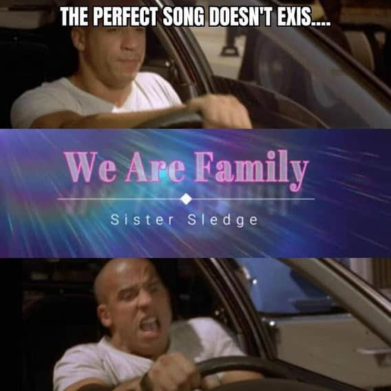 perfect song fast and furious family memes