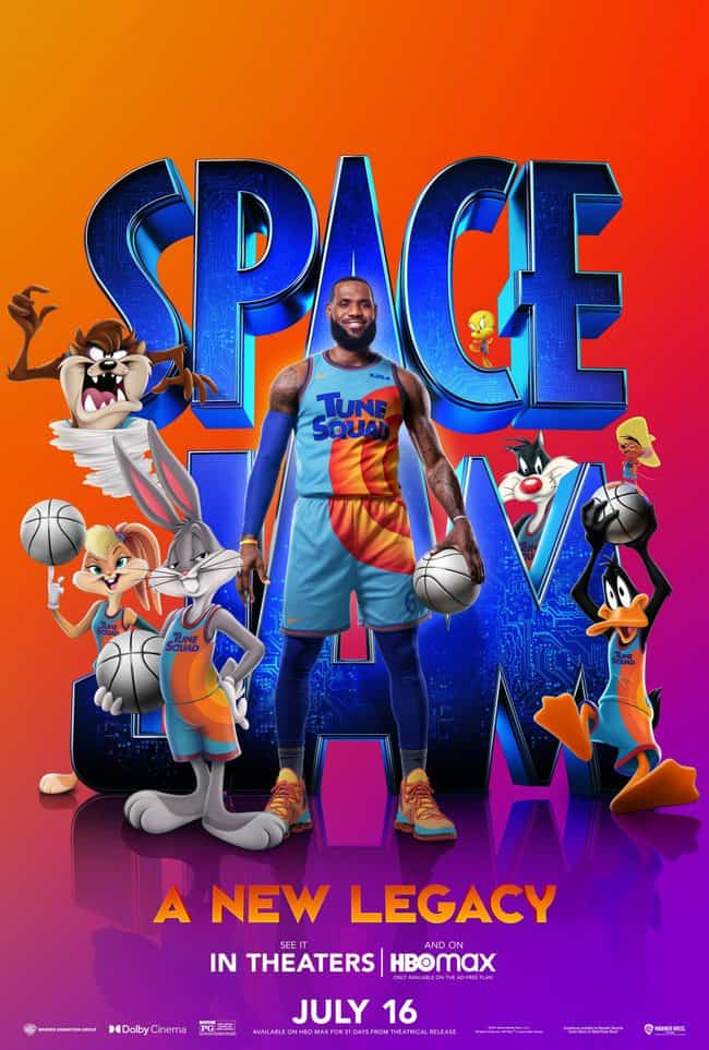 LeBron space jam 2 quotes and movie poster